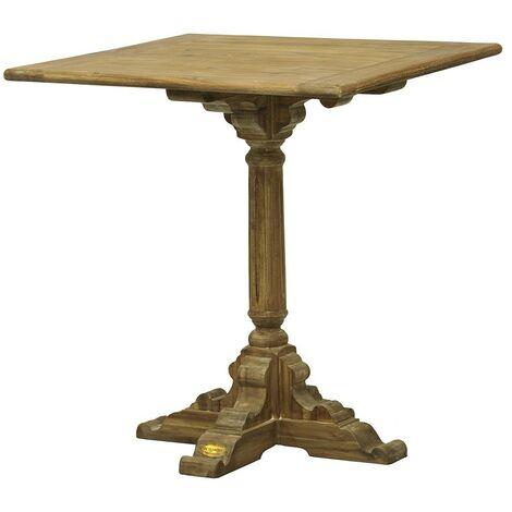 Table bistrot pied vieux bois - De Kercoët