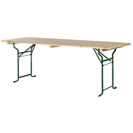 Table brasserie piétement tube 220x70cm