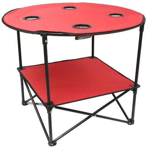"""main image of """"Table camping pliante en tissu bleu"""""""