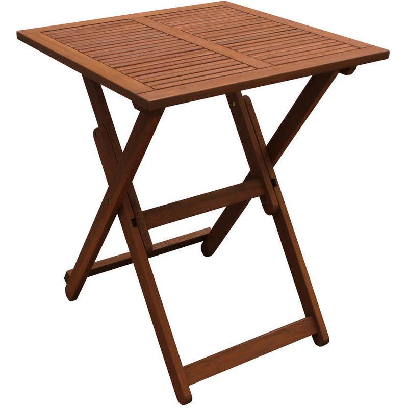 Table Pliante Contre Mur table carée pliante 60 x 60 x 74 - marron clair