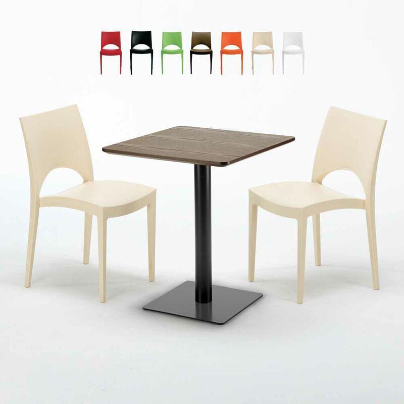 Set de 2 Pieds de Table en Profil/és dAcier 60x20 mm 50x72 cm, Noir Choix de Taille et de Couleur