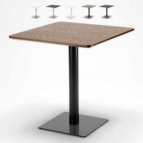 Table carrée 70x70 pour bars restaurants hôtels base centrale HORECA