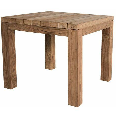 Table carrée en teck massif recyclé 90 x 90 cm Callao - Naturel