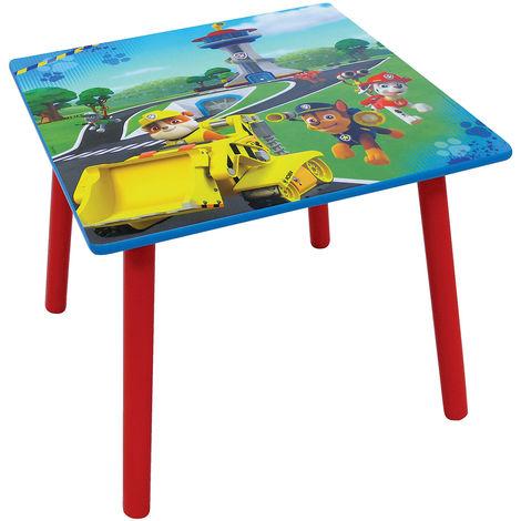 Table carrée Pat Patrouille en bois