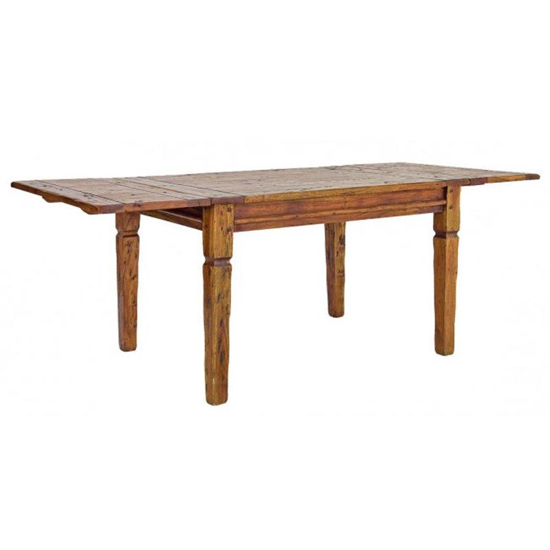 Table ch?teaux en bois d\'acacia - Dim : L 200>245>290 x P 100 x H 76 cm