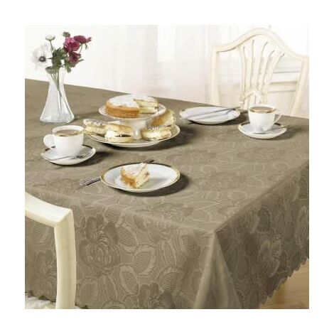 """main image of """"Table Cloth Damask Rose 52 X52"""" Coffee"""""""