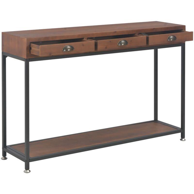 3 console de cm sapin massif tiroirs 120x30x76 Bois Table avec ZiuOPkX