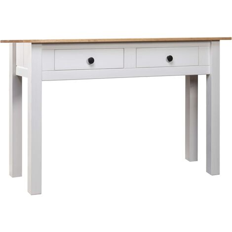 Table console Blanc 100x40x73 cm Pin massif Assortiment Panama