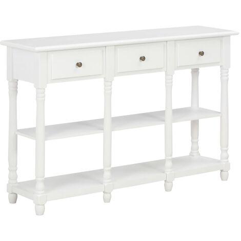 Table console Blanc 120x30x76 cm MDF