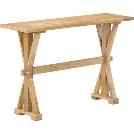 Table console Bois de manguier massif 118 x 35 x 76 cm
