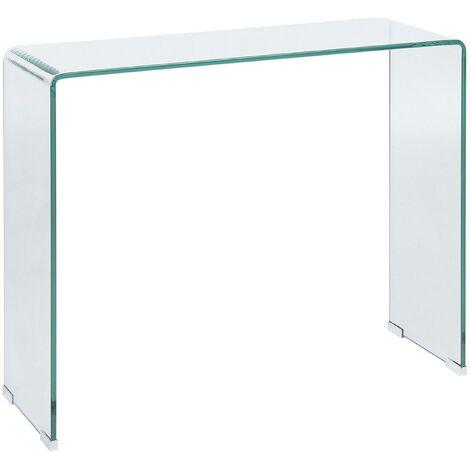Table console en verre transparent KENDALL