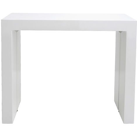 Table Console Extensible Design Blanc Laque Caleb 43370