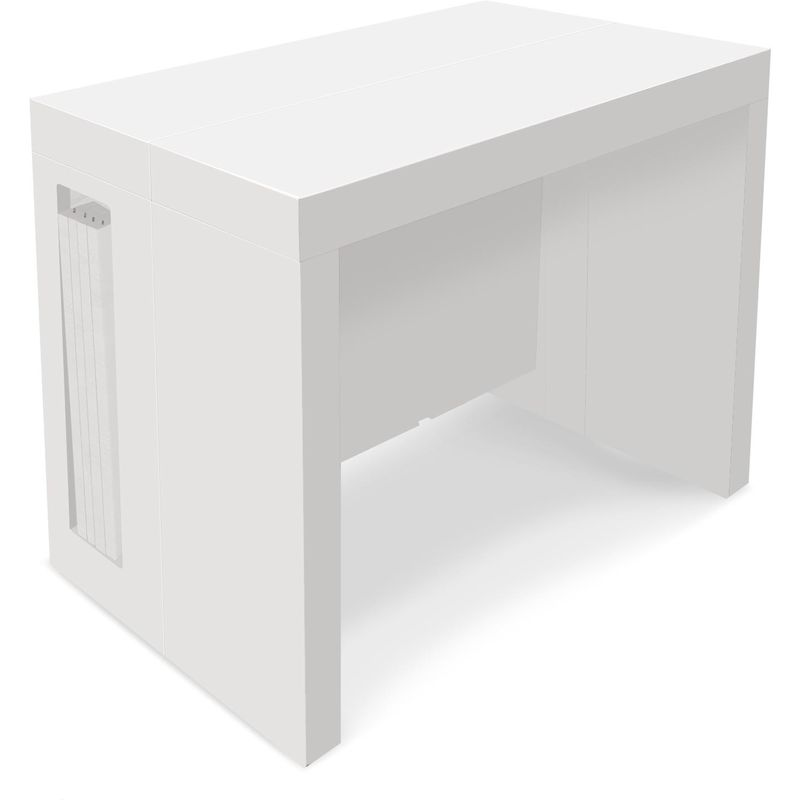 Table Console Extensible Loki Blanc Laque