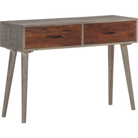 Table console Gris 110x35x75 cm Bois de manguier massif brut
