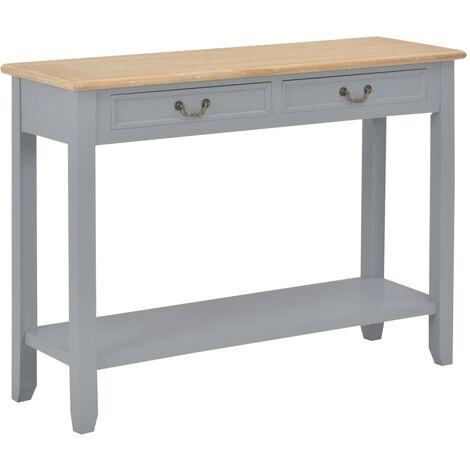 Table console Gris 110x35x80 cm Bois