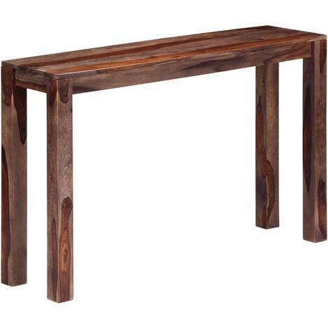 Table console Gris 120x30x76 cm Bois de Sesham massif