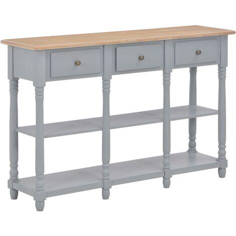 Table console Gris 120x30x76 cm MDF