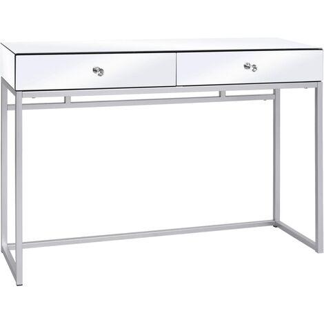 Table console miroir Acier et verre 107 x 33 x 77 cm