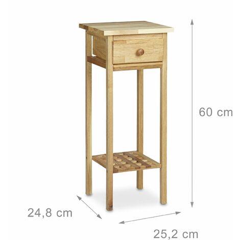 Table console table de téléphone table d'appoint entrée salon couloir avec tiroir 60 cm - Noir