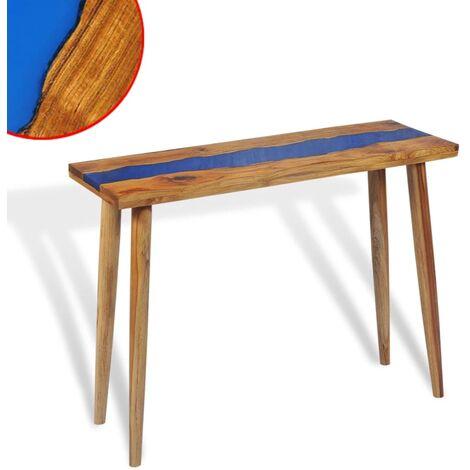 Table console Teck Résine 100 x 35 x 75 cm
