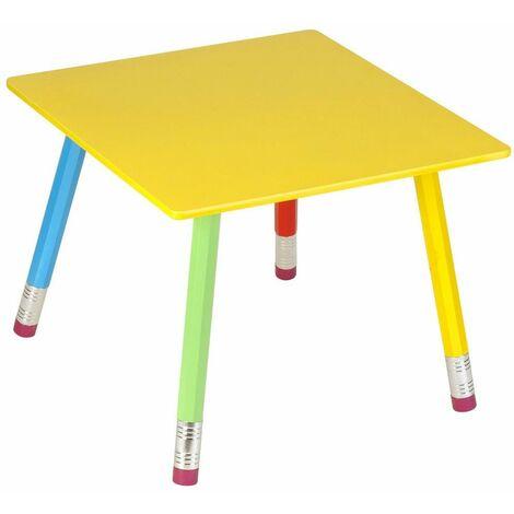 """main image of """"Table Crayons en Bois pour enfant 55x55x43cm - Multicolore"""""""