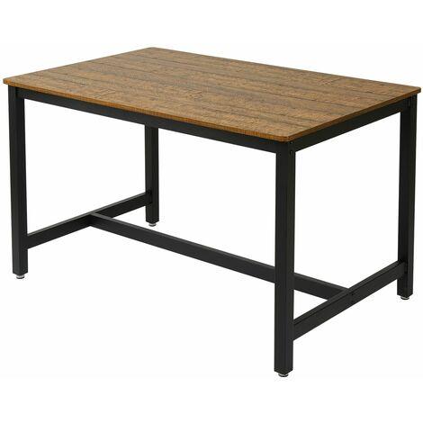 """main image of """"Table Cuisine, table de Salle à Manger, Table à dîner Rectangulaire, Style Industriel, pour Salon, Salle à Manger-Meerveil (sans banc)"""""""