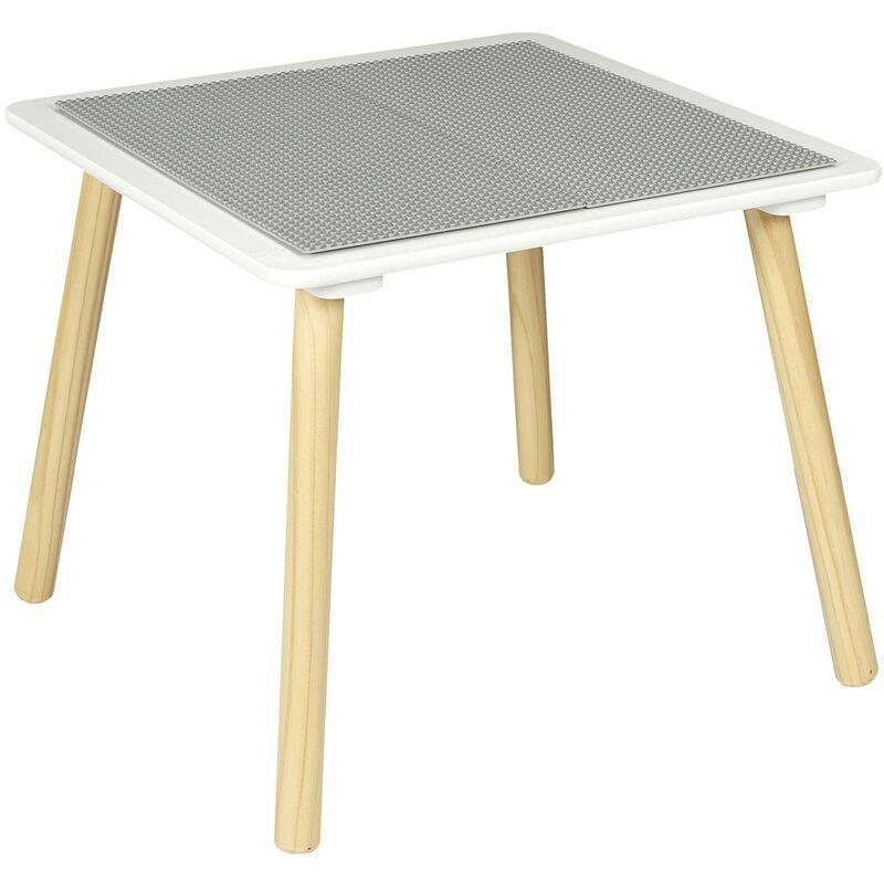 Table d'activité compatible briques - Blanc