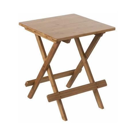 naturel cm Table pliante d'appoint 40 en bambou dxBoCre