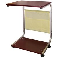 Table d'appoint à roulettes Table basse Bout de Canapé Table de lit roulante pour PC ou repas FBT21-BR SoBuy®