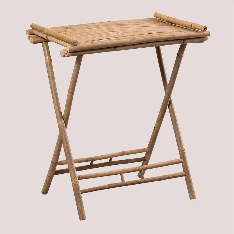Table d'appoint avec plateau en bambou Tonga SKLUM Bambou Bambou - Bambou Bambou