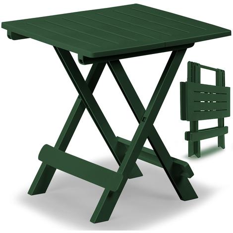 Table d\'appoint Balcon Jardin Terrasse 45cm x 43cm x 50cm - Vert