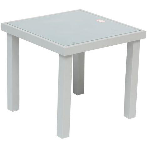 Table d'appoint de jardin Piazza - H. 36 cm - Argent