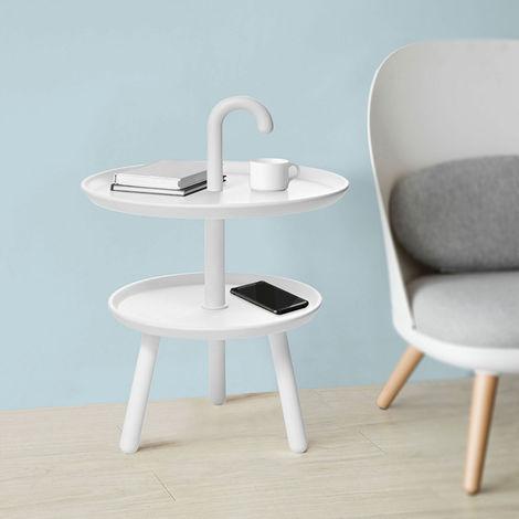 Table d'Appoint Design Guéridon Table Basse à 2 Niveaux de Haute Qualité FBT71-W SoBuy®