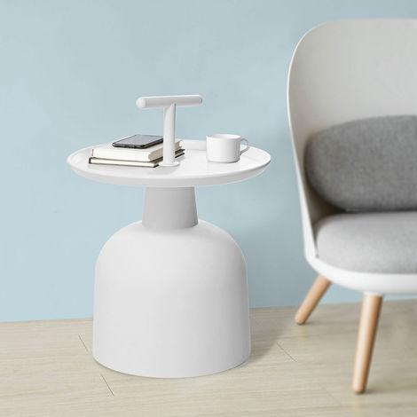 Table d'Appoint Design Guéridon Table Basse Table à Café de Haute Qualité FBT72-W SoBuy®