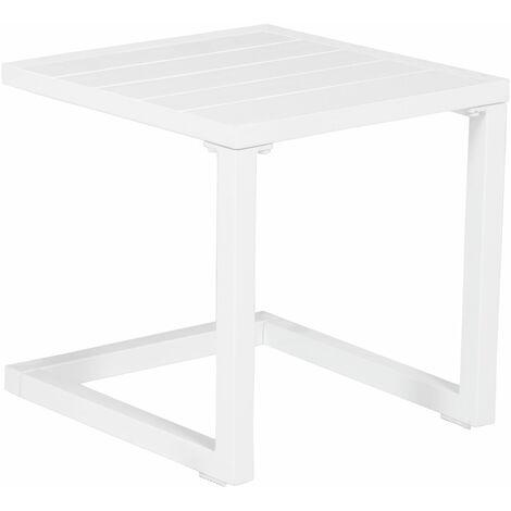 "main image of ""Table d'appoint en aluminium BARBADOS blanc - Blanc"""
