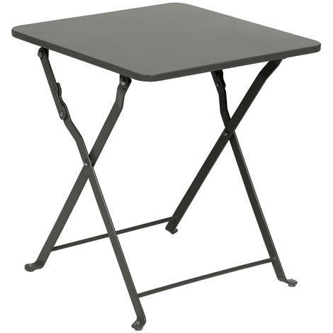Table d\'appoint Nindiri 40 x 40 cm Ardoise mat - Hespéride