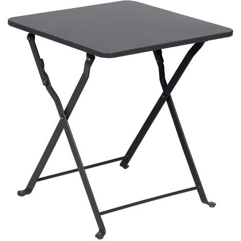 Table d'appoint Nindiri 40 x 40 cm Graphite mat - Hespéride