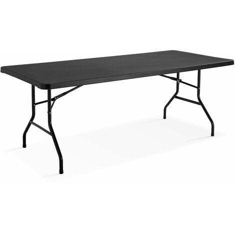 """main image of """"Table d'appoint noire pour réception 200 cm"""""""