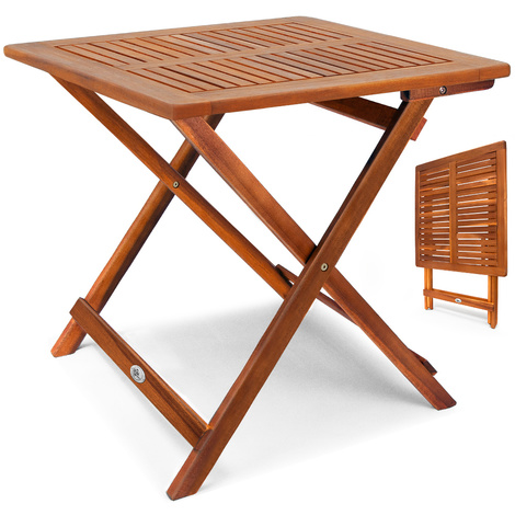 Jardin Bois D'acaciaPour Table D'appoint Pliable En Camping bf76gy