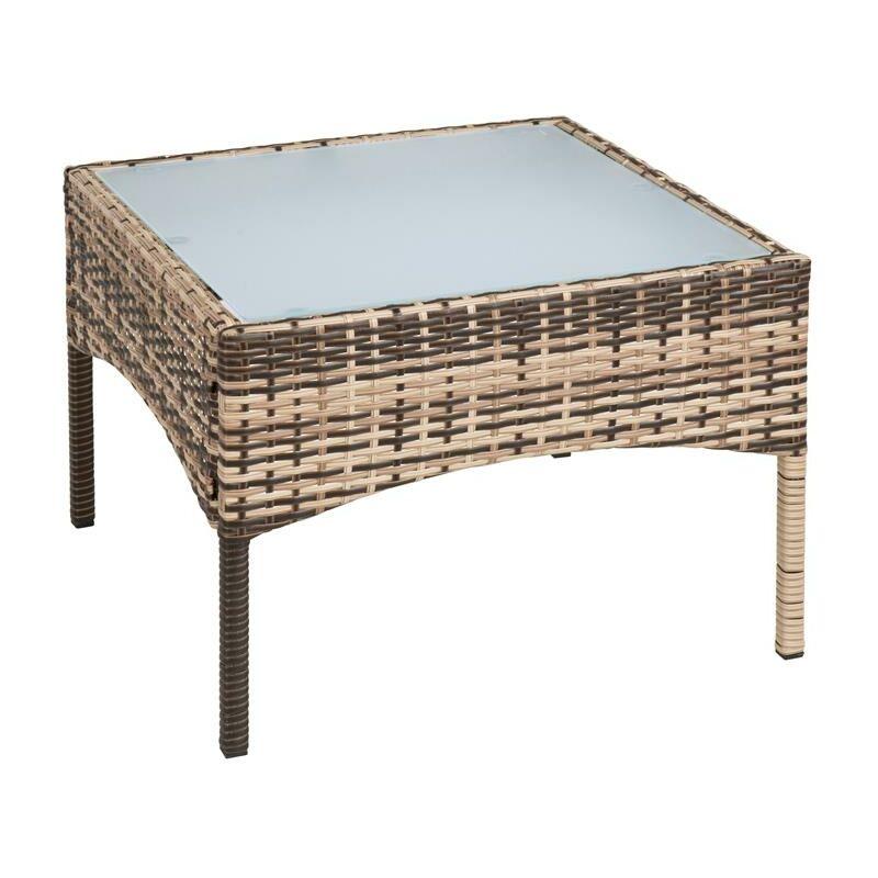 Table d'appoint Polyrotin Table de jardin Table de balcon Meubles Verre