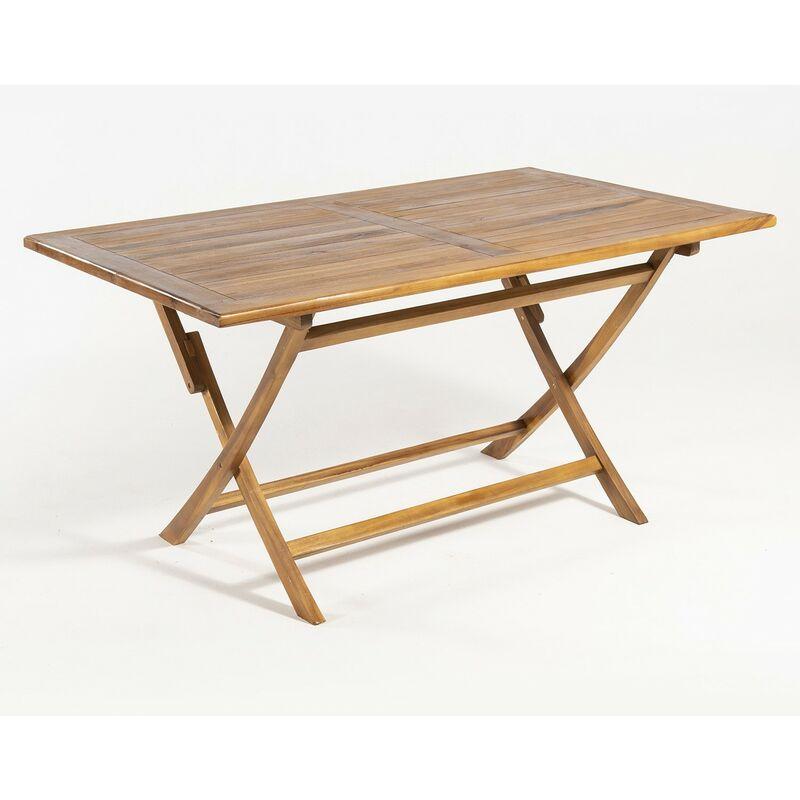 Table pliante en teck Rectangular 150x90 cm