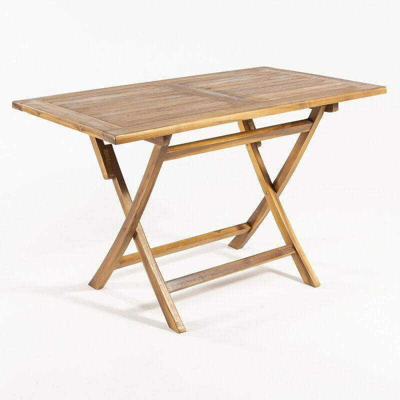 Table pliante en teck Rectangular 120x70x76 cm