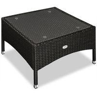 Table d''appoint / table basse en polyrotin - 58x58 x42cm - Noir - Maison/Jardin
