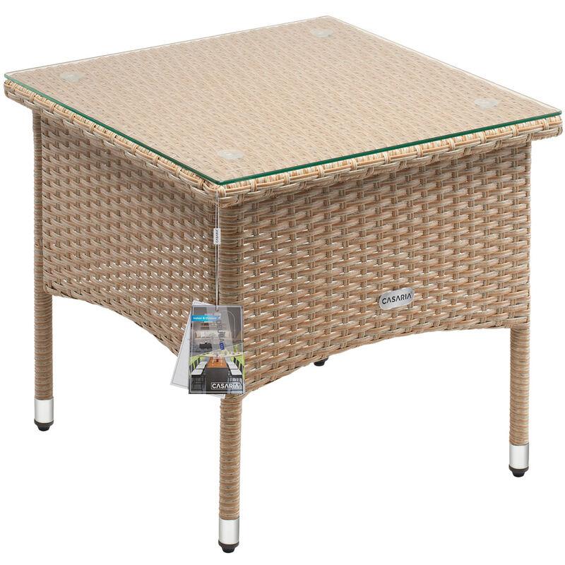Table d'appoint / table basse en polyrotin - modèle au choix M1 - 50x50x45cm (de)