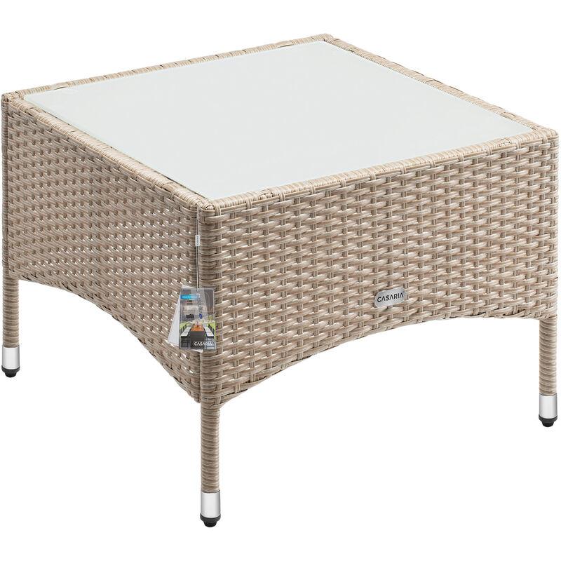 Table d'appoint / table basse en polyrotin - modèle au choix M2 - 58x58x42cm (de)