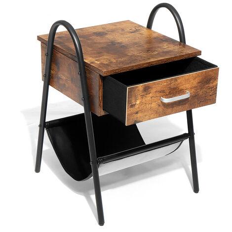 """Table d'appoint Table de Chevet industriel avec Tiroir 18""""x10""""x21"""""""