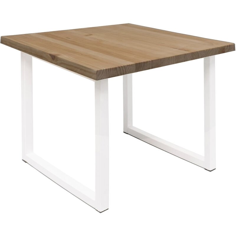 Decowood - Table d'appoint Zocco vieillie et blanche