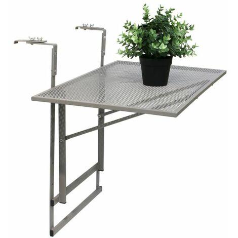 Table de balcon pliable taupe - Taupe