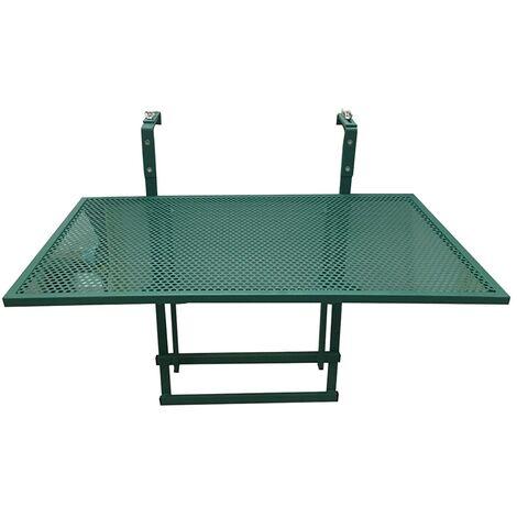 Table de balcon pliable vert - Vert