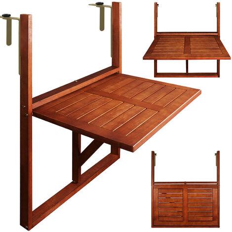 Bar Patio Bureau dordinateur portable Barre de balcon suspendu Patio de jardin Table dappoint Table basse Pont r/églable Table pliable Garde corps,35 * 60cm PS imitation bois